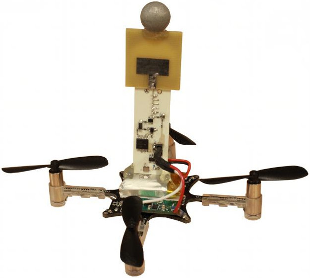 Harmonium tag mounted on a micro quadrotor